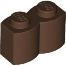 Modified 1 x 2 Log part 30136 LEGO-X 4  brown  Brick