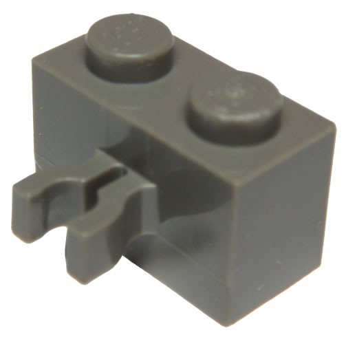 LEGO PART 30237 BLACK BRICK MODIFIED 1 X 2 WITH VERTICAL CLIP FOR 20 PIECES