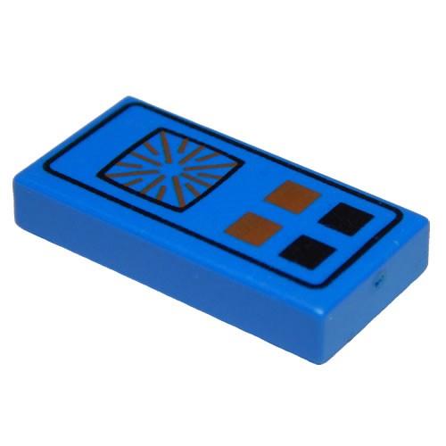Lego Choose Color Tile 1x2 Red Black Buttons Computer Pattern 3069bp25