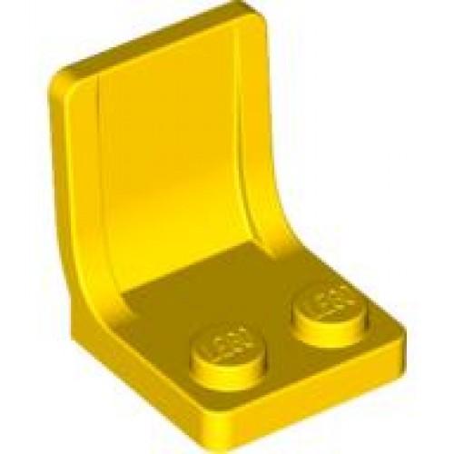 siège jaune Minifig Légo ref 4079 Utensil Seat 2 x 2 yellow